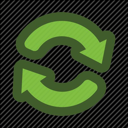 Arrow, Go, Green, Icon, Recycle Icon