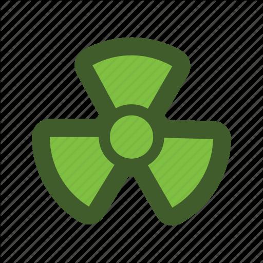 Go, Green, Icon, Nuke, Radiation Icon