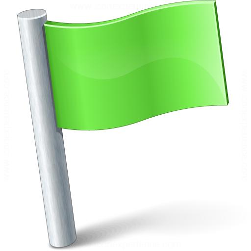 Iconexperience V Collection Signal Flag Green Icon