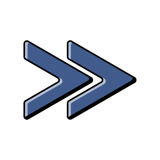 Forward, Arrows, Arrow, Front, Go, Blue Icon Free Of Music Player