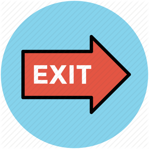 Emergency Sign, Exit, Exit Sign, Exit Signal, Go Out, Information