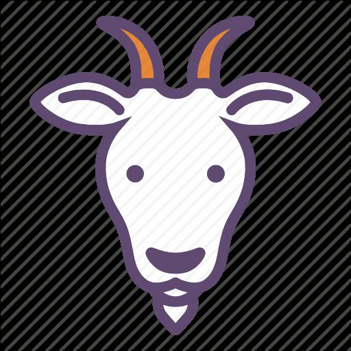 Animal, Cattle, Farm, Goat, Head Icon
