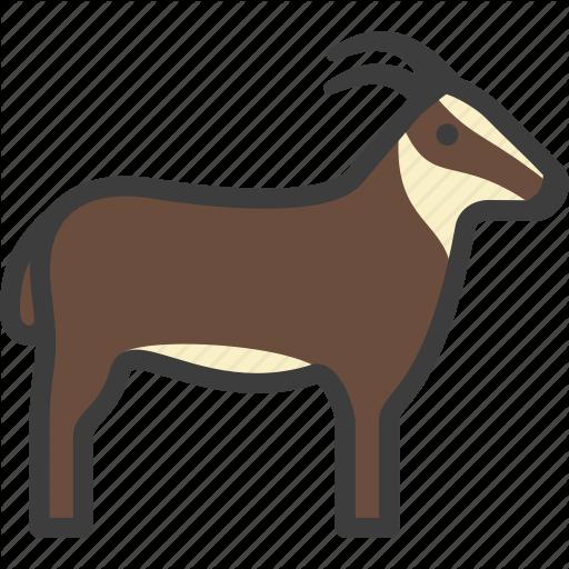 Billy Goat, Goat, Herbivore Icon