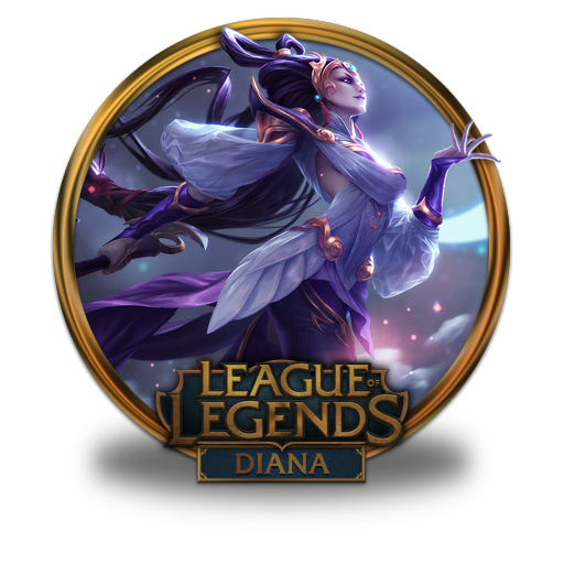 Diana, Lunar, Goddess Icon Free Of League Of Legends Gold Border Icons