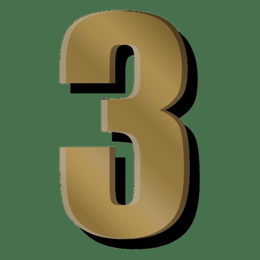 Gold Bar Figure Three Symbol