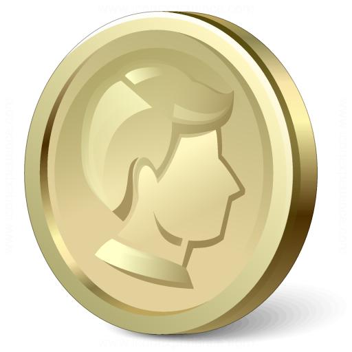 Iconexperience V Collection Coin Gold Icon