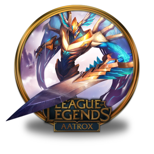 Aatrox Justicar Icon League Of Legends Gold Border Iconset