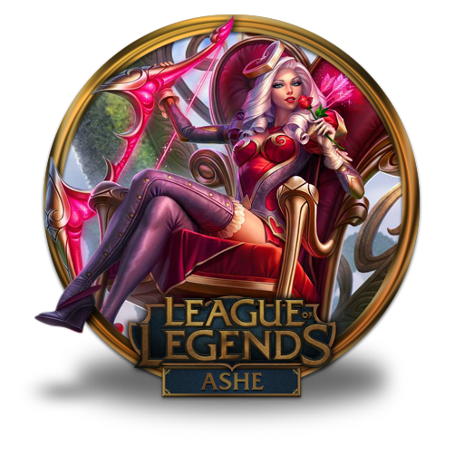 Ashe, Heartseeker Icon Free Of League Of Legends Gold Border Icons