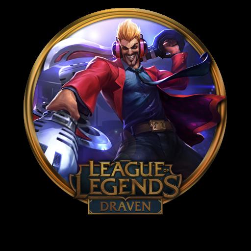 Draven, Primetime Icon Free Of League Of Legends Gold Border Icons