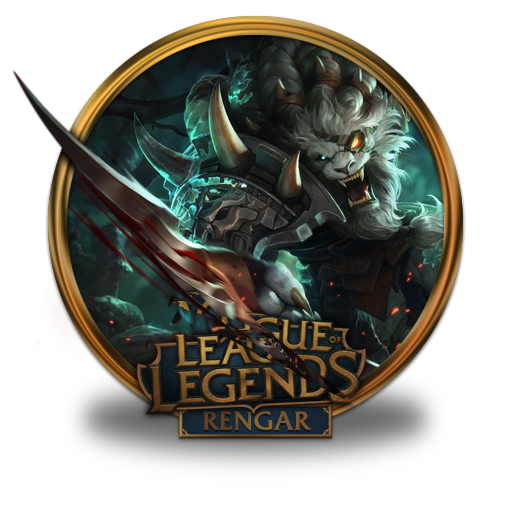 Rengar Icon Free Of League Of Legends Gold Border Icons