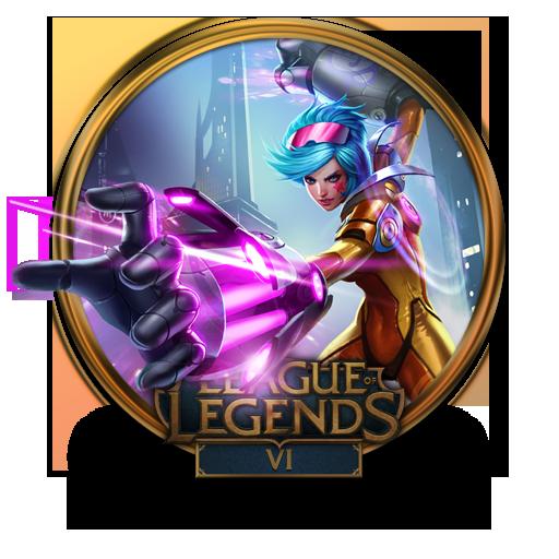 Vi Neon Strike Icon League Of Legends Gold Border Iconset