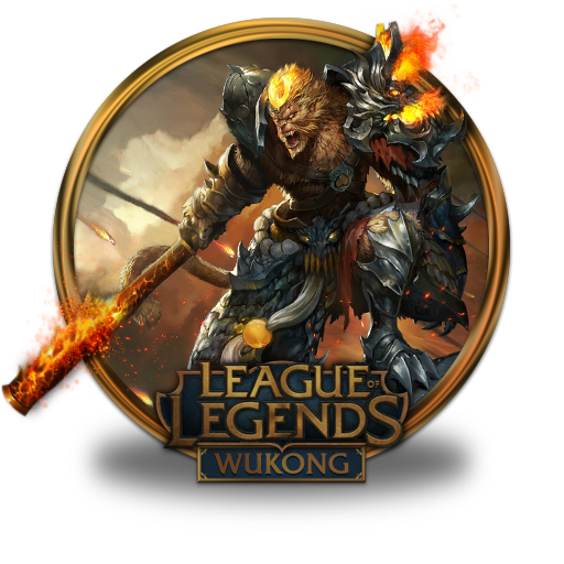 Wukong, Volcanic Icon Free Of League Of Legends Gold Border Icons