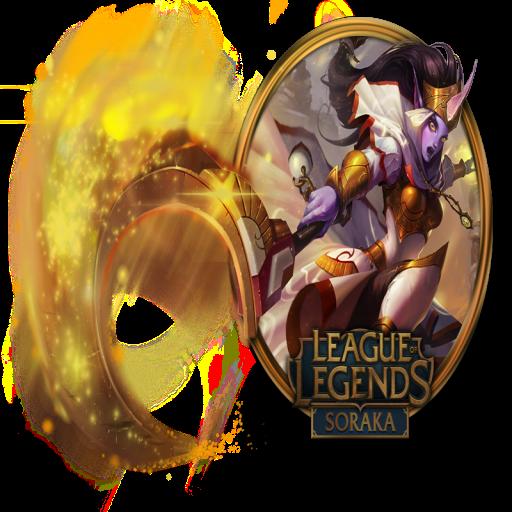 Soraka Icon Free Of League Of Legends Gold Border Icons