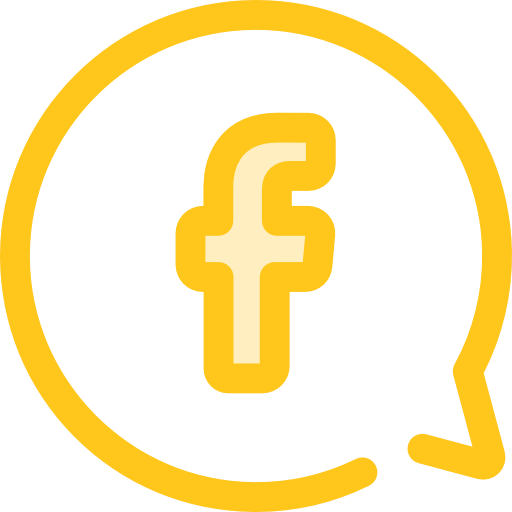 Chat Flat Gold Icon