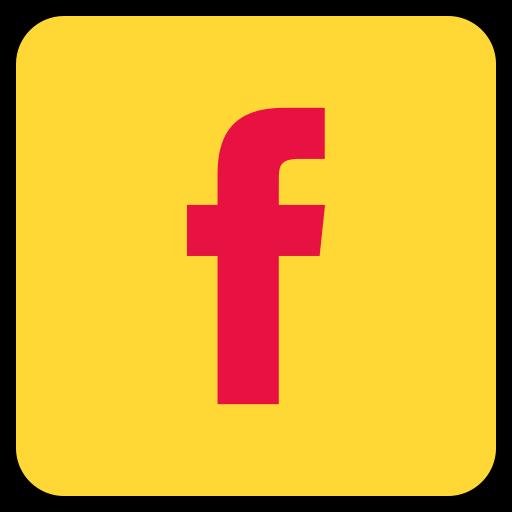 Social Media Facebook Gold Icon