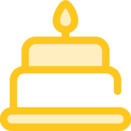 Celebration Flat Gold Icon