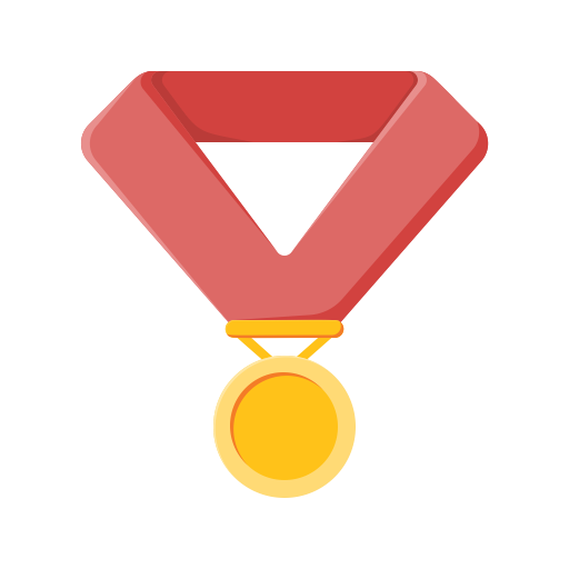 Medal, Gold Medal, Win, Sports, Achivement Icon