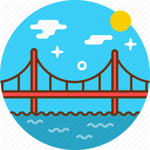 Bridge, Crossing, Golden Gate, San Francisco Icon