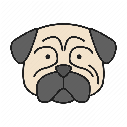 Carlin, Chinese, Dog, Mops, Pet, Pug, Puppy Icon