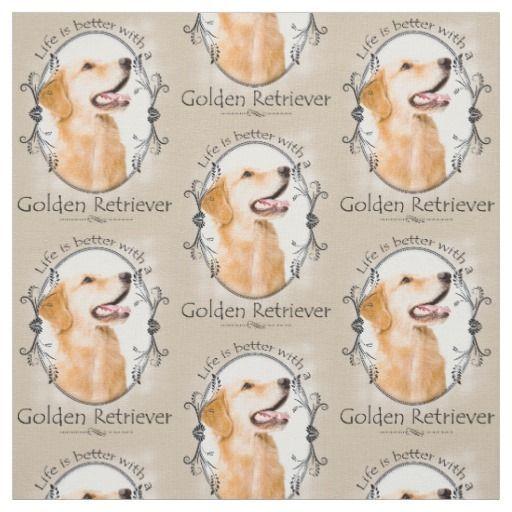 Golden Retriever Fabric