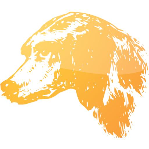 Web Orange Dog Icon
