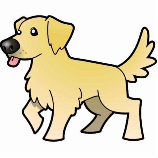 Cartoon Drawing Of A Golden Retriever