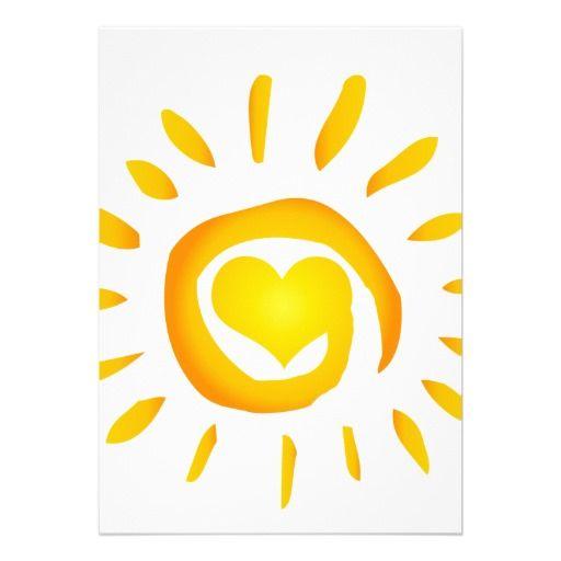 Bright Yellow Heart Sunshine Surf Swirl Symb