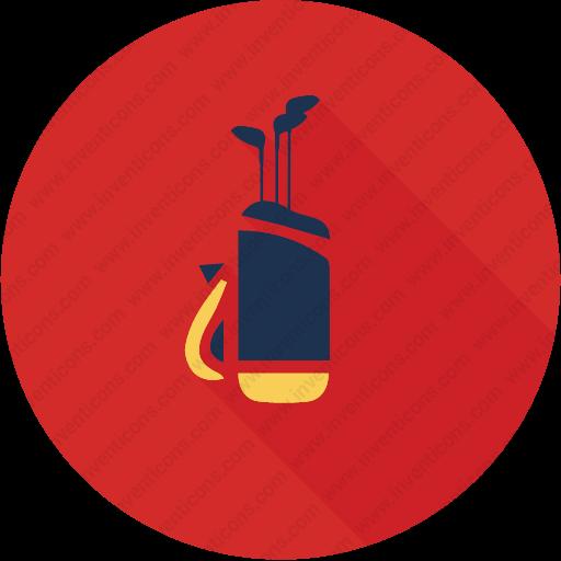 Download Golf,ball,sticks,bag,sport Icon Inventicons