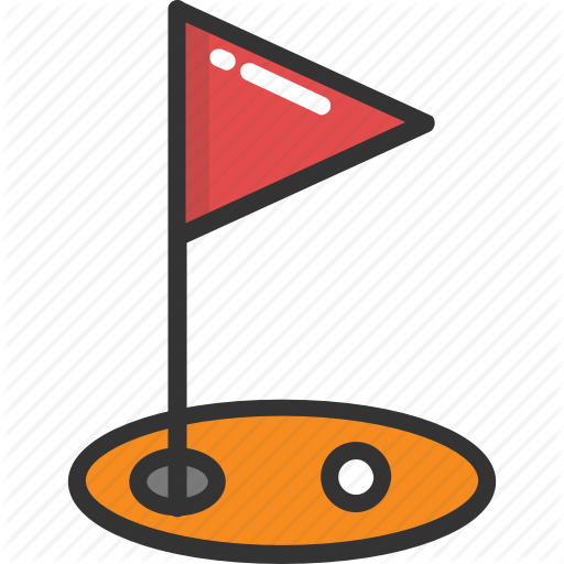 Flagpole, Golf Club, Golf Course, Golf Course Aerial, Golf Flag Icon