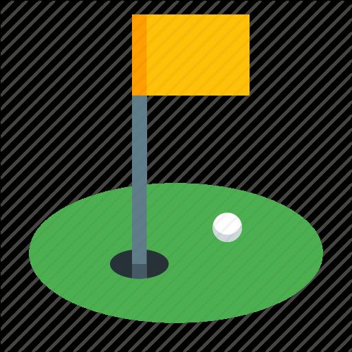Ball, Golf, Golf Club, Golf Course, Hole Icon