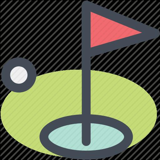 Field, Flag, Golf, Golf Club, Golf Course, Navigation, Sign Icon