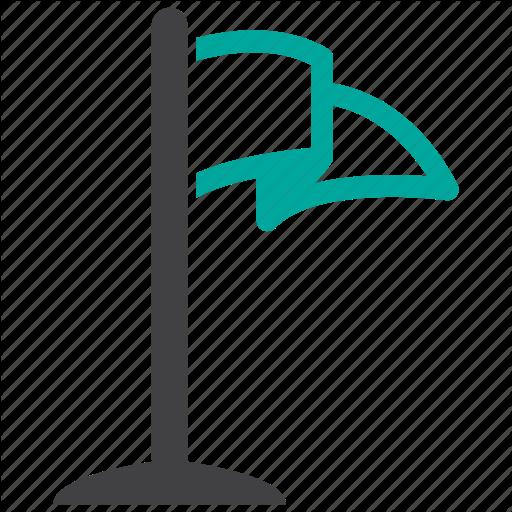 Flag, Golf, Location Icon