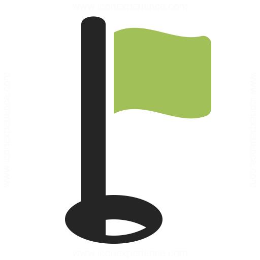 Golf Flag Icon Iconexperience