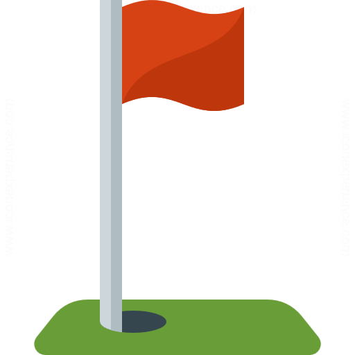 Iconexperience G Collection Golf Flag Icon