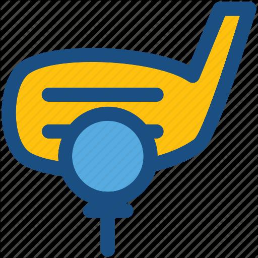 Golf, Golf Ball, Golf Club, Golf Stick, Golf Tee Icon