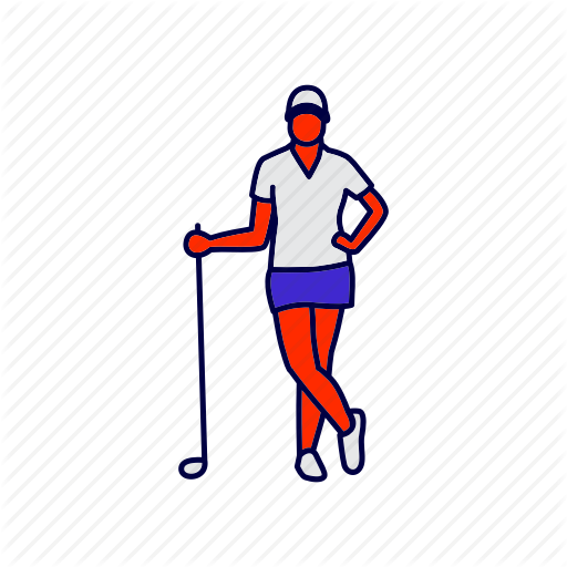 Athlete, Golf, Golfer Icon