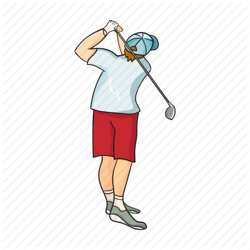 Golf, Golfer, Hobby, Men, Player, Sport, Stick Icon