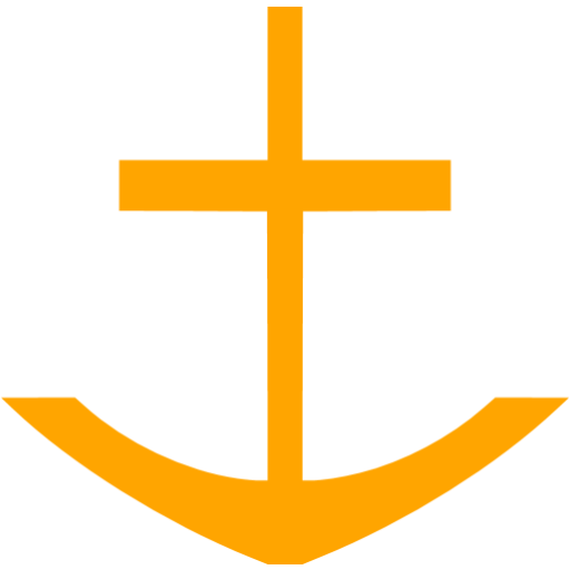 Orange Anchor Icon