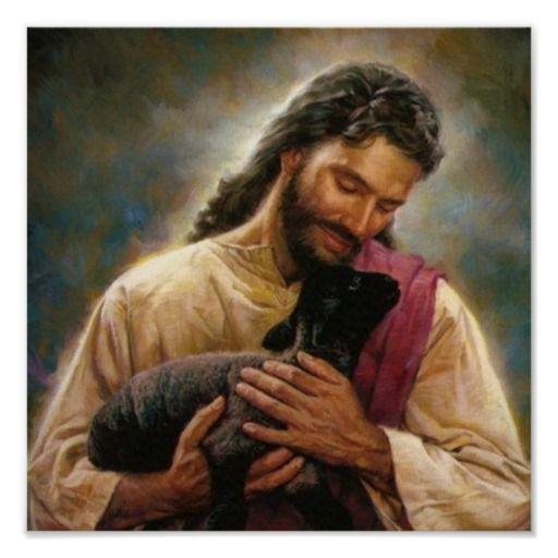 Christ The Good Shepherd Poster Catholic Jesus