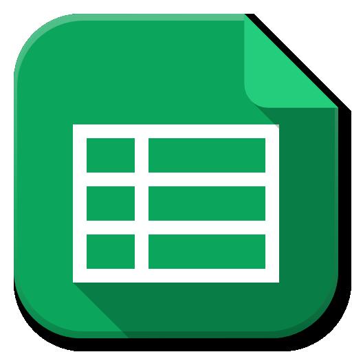 Apps Google Drive Sheets Icon Flatwoken Iconset Alecive