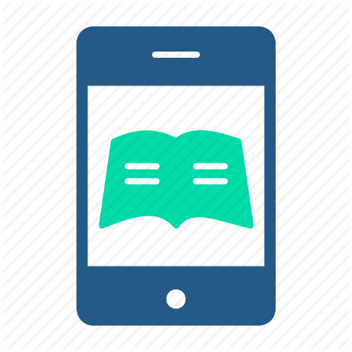 Ebooks, Education, Elearning, Mobile Books, Online Courses Icon