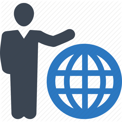 Businessman, Communication, Global Business Icon