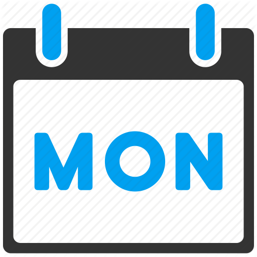 Monday Calendar Icon