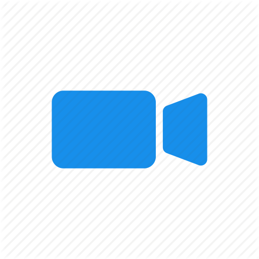 Blue, Movie, Video, Video Camera Icon