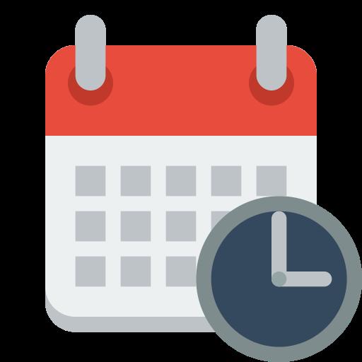 Calendar, Clock Icon