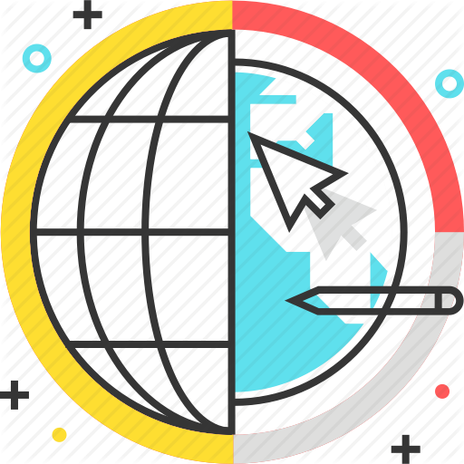 Cursor, Earth, Finance, Global, Graph, Internet, Pie Chart Icon