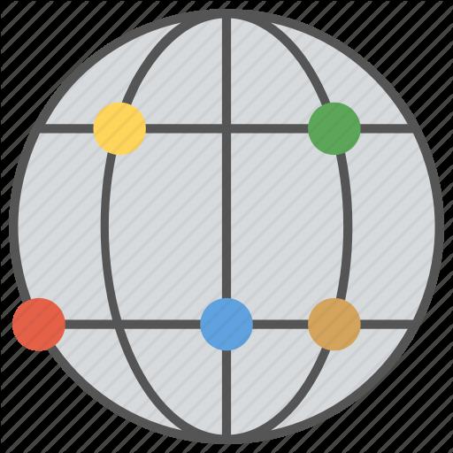 Digital Earth, Digital Planet, Earth, Grid Globe, World Map Icon
