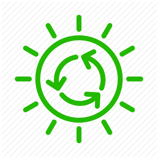 Earth, Eco, Energy, Nature, Recycle, Sun Icon