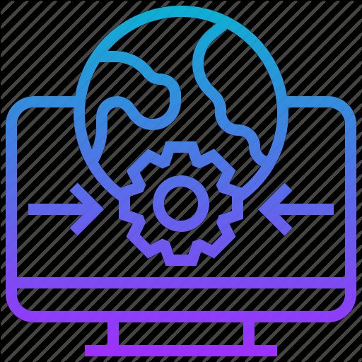 Communication, Computer, Data, Desktop, Earth, World Icon