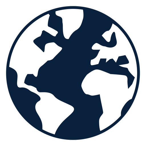 Earth Black And White Icon